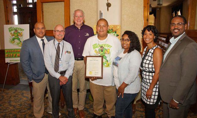 "Emanuel ""E-Man"" Monge: Super hero teen battling cancer gets special recognition at City Hall"
