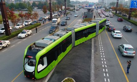 Next big leap for The Hop? China's trackless commuter train begins public run on virtual rails