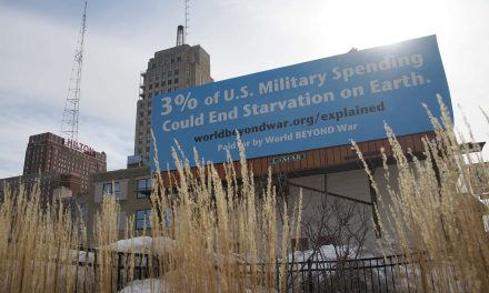 The Math of a Milwaukee Billboard: Just 3% of U.S. Military spending could end global starvation