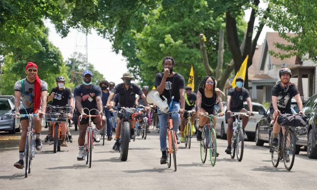 "Thousands ride in unity across Milwaukee to affirm the message ""Black is Beautiful"""