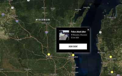 Interactive map documents extensive incidents of police violence against Black Lives Matter Protesters