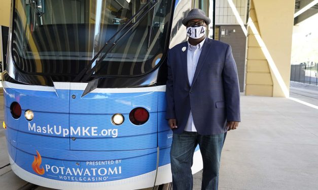 MaskUp with The Hop: New streetcar partnership provides free face coverings to keep Milwaukee safe