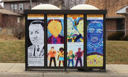 MCTS bus shelters feature murals by student winners from Dr. Martin Luther King, Jr. art contest