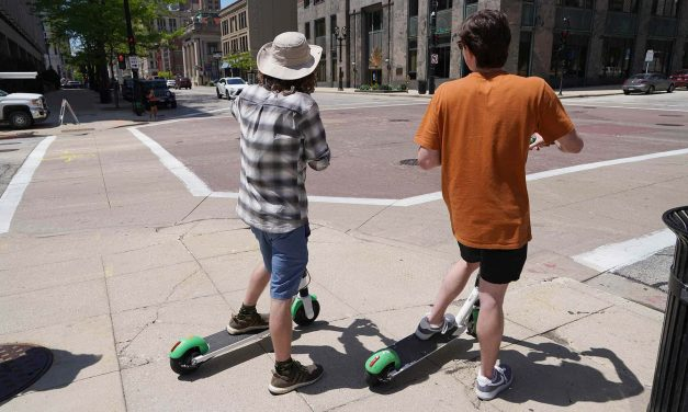 Illegal sidewalk riding of electric scooters triggers public safety ban on Downtown Milwaukee usage