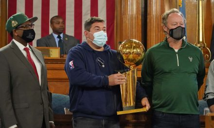 Milwaukee Bucks recognized by city leaders for historic NBA championship win