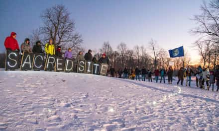 Vigil held for Wisconsin burial mounds