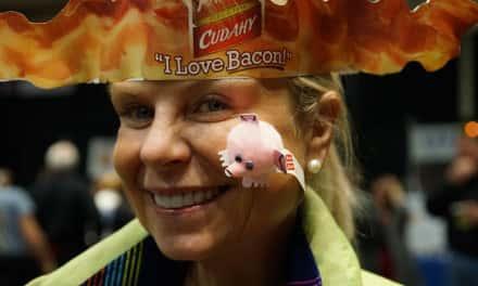 Plenty of sizzle at Baconfest on Valentine's Day