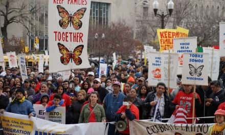 Thousands march for immigrant rights on May Day