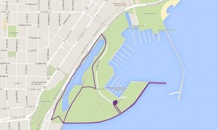 Map: NAMIwalks along Lakefront