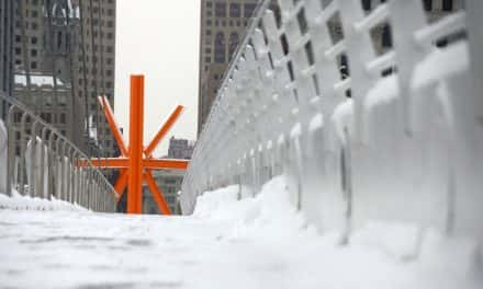Photo Essay: Downtown in white as winter arrives