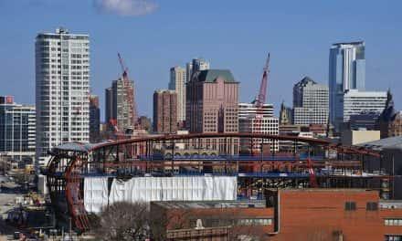 Photo Essay: Bucks Arena looks small as construction takes shape