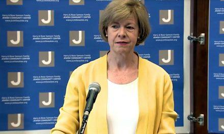 Senator Baldwin speaks out against anti-Semitism during JCC visit