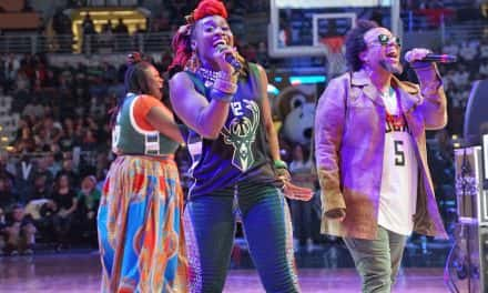 Photo Essay: Arrested Development comes home for Bucks halftime show