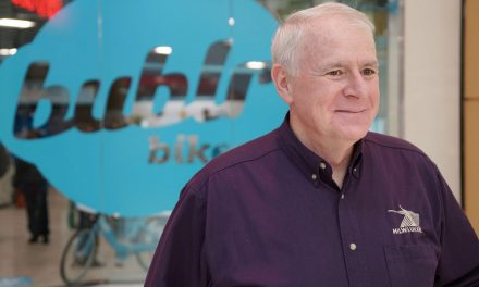 Mayor Barrett helps Bublr open new HQ at Grand Avenue