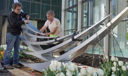 Calatrava's sculpture and how Milwaukee street art gets installed