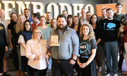 NEWaukee presents Penrod with 2017 Bubbler Award