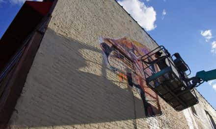 """Installation underway for Bay View """"Street Canvas"""" mural project"""