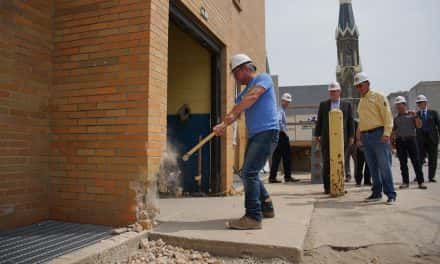 Photo Essay: MKE Brewing Company breaks bricks in Pabst Complex