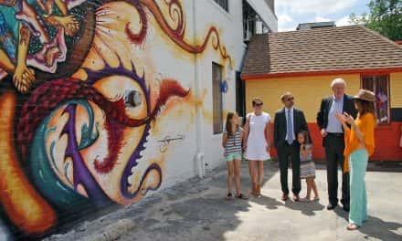 """Handala"" mural features kids from Clarke Square neighborhood"