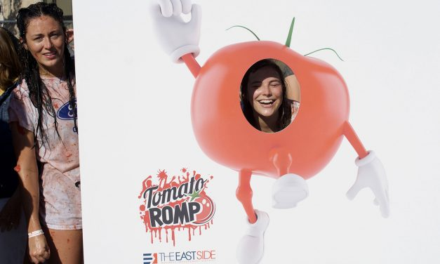 Annual East Side tomato fight slings the red vegetable to help end hunger