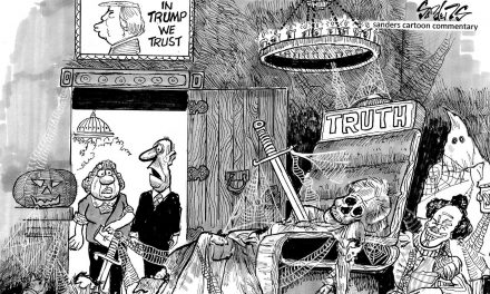 A generation of political cartoons that go against the grain in upcoming Bill Sanders book