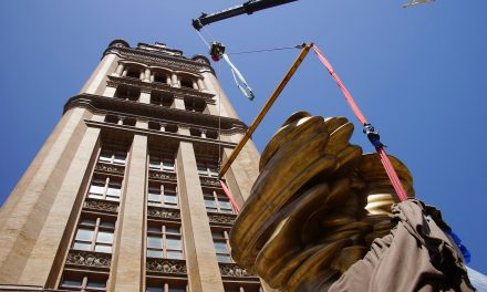 City Hall gets permanent public art display with installation of iconic bronze sculpture