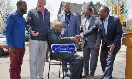 Street by Dr. Lester Carter's historic pharmacy renamed in his honor