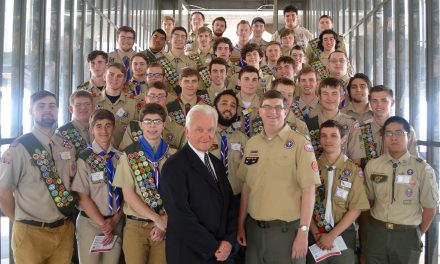 H. Carl Mueller's commitment to Scouting recognized at special Eagle Scout Ceremony