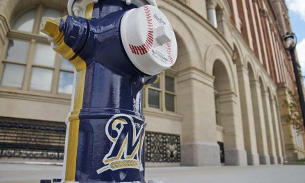 City Hall fire hydrant gets Milwaukee Brewers-themed makeover
