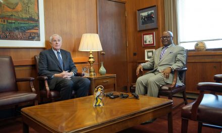 Sheriff-elect Earnell Lucas meets with Mayor Tom Barrett about new era of cooperation