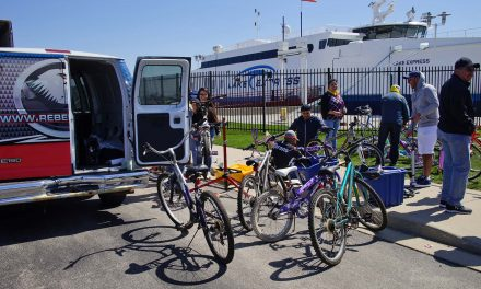 Lake Express Ferry collects hundreds of bicycles for children in annual Earth Week Bike Drive