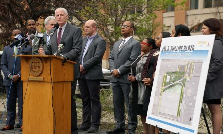 City presents plan for Vel Phillips Plaza as transit hub in underutilized urban space of Westown
