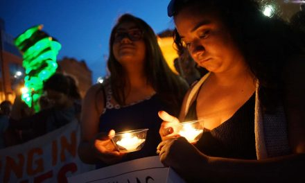 Lights for Liberty coalition holds vigil to shine a light on the darkness of detention camps