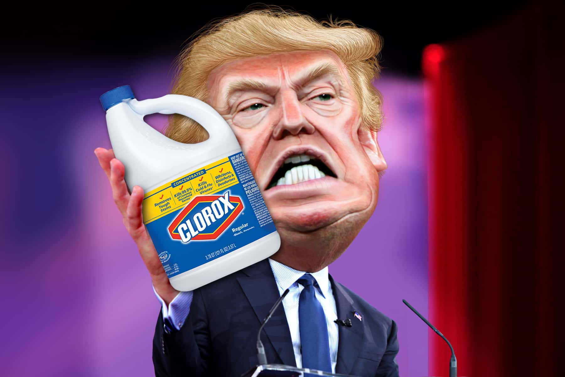 PSA: Please do not follow Trump's suggestion to inject bleach as a cure for  coronavirus | The Milwaukee Independent