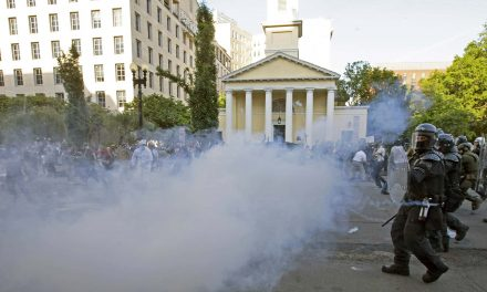 Tear gas used on peaceful protesters is a chemical weapon banned by Geneva Convention during war