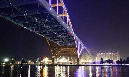 Night Lights: Hoan Bridge officially begins illumination along the lakefront every evening