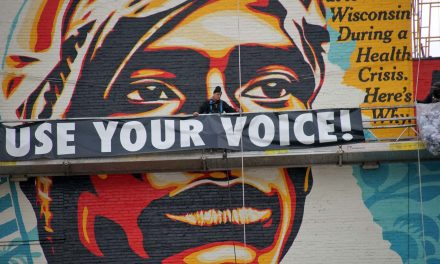 Voting Rights Are Human Rights: A look at how Shepard Fairey installed Milwaukee's new social justice mural