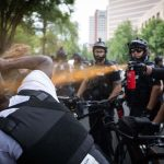 Data shows that police are three times more likely to use force against peaceful leftwing protesters