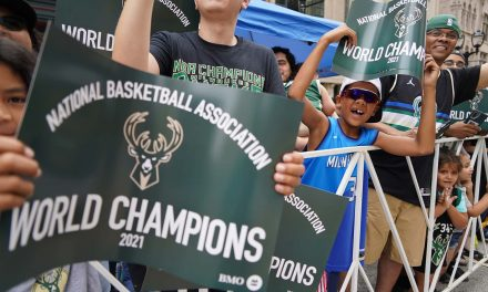 Fans show their love for Milwaukee Bucks during massive parade celebrating team's championship win