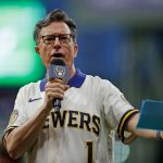 Apology Fest: Stephen Colbert attends Brewers game to say sorry for mocking Milwaukee on The Late Show